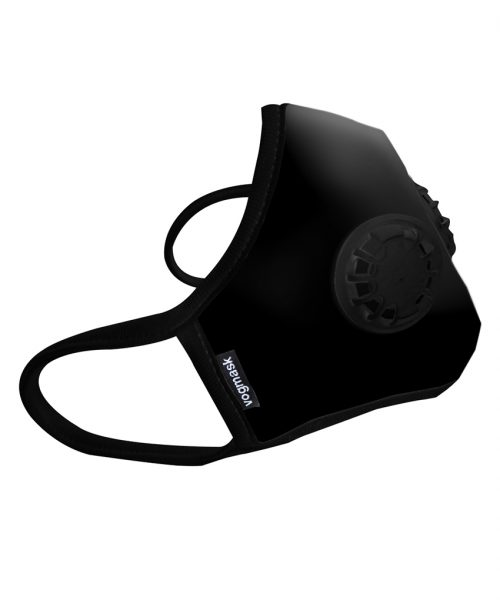 Masque Anti pollution black double valve