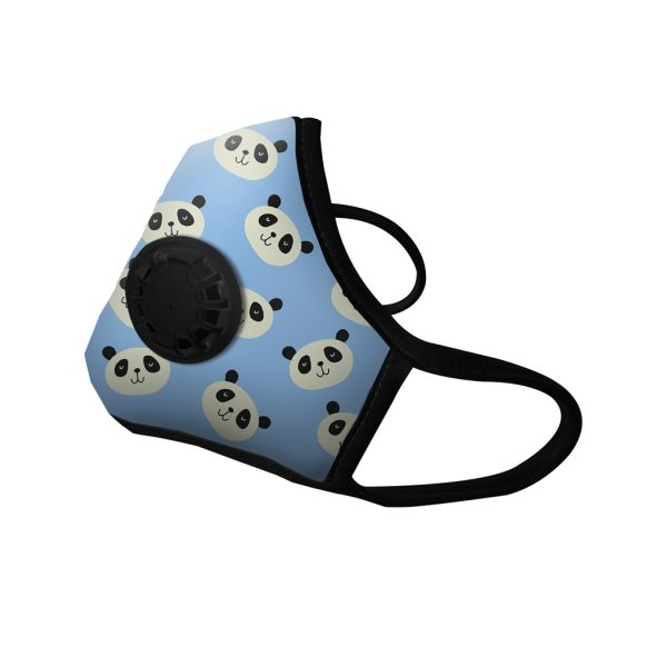 Masque anti-pollution Panda blue 1 valve - Vogmask
